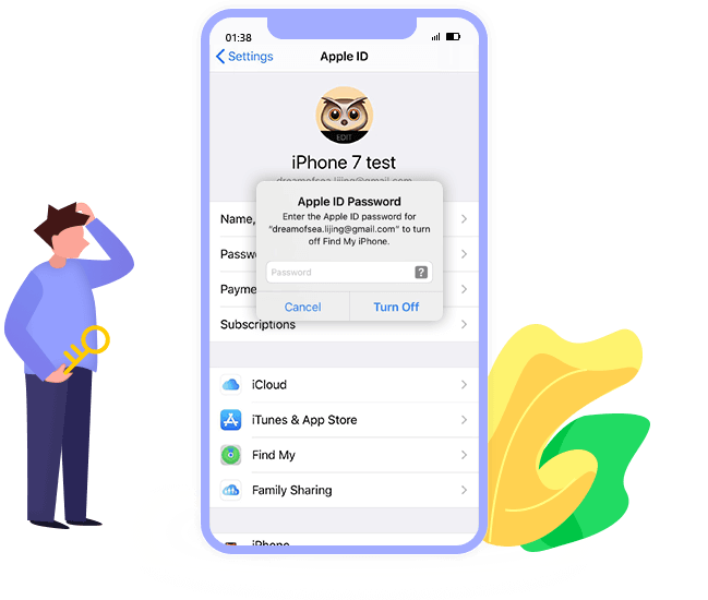 Usuń Apple ID