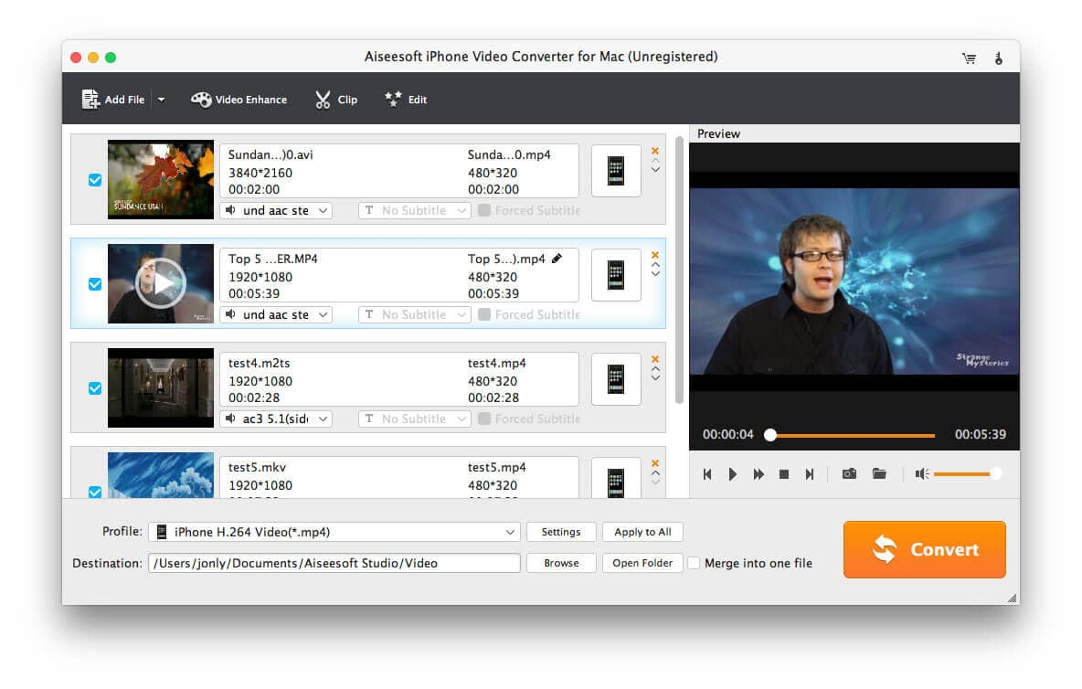 Aiseesoft iPhone Video Converter for Mac 6.3.6 full