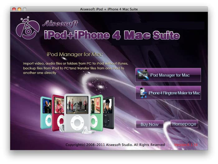Aiseesoft iPod + iPhone 4 Mac Suite 3.2.28