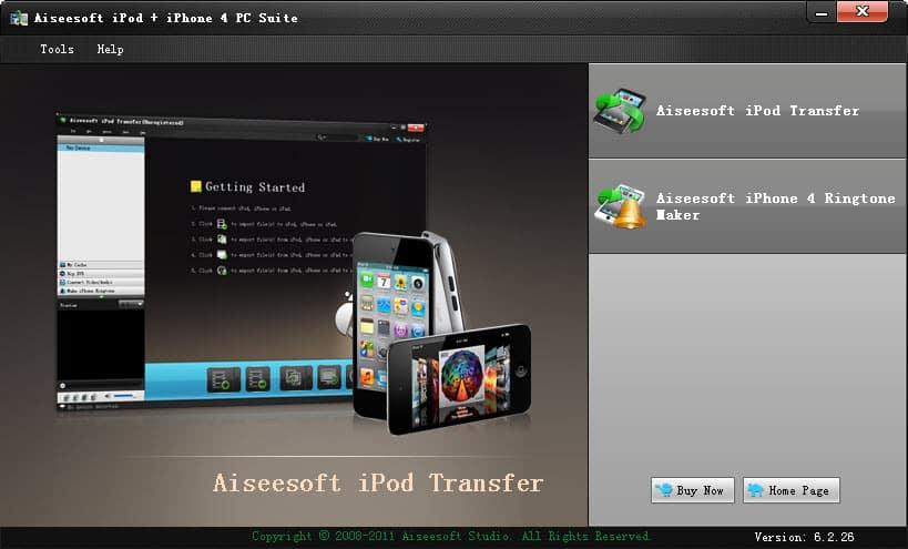 Windows 7 Aiseesoft iPod + iPhone 4 PC Suite 5.1.02 full