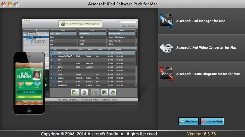 Aiseesoft iPod Software Pack for Mac