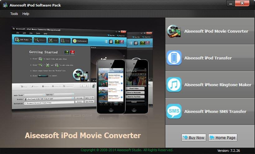 Windows 7 Aiseesoft iPod Software Pack 7.2.26 full