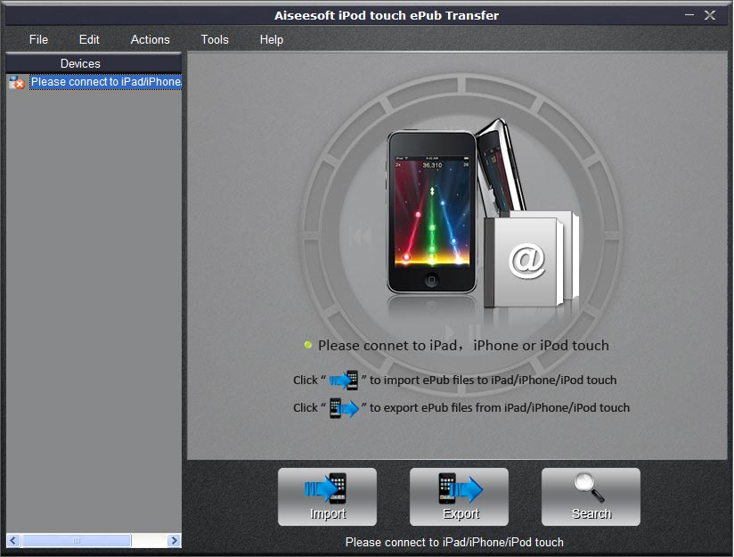 Aiseesoft iPod touch ePub Transfer