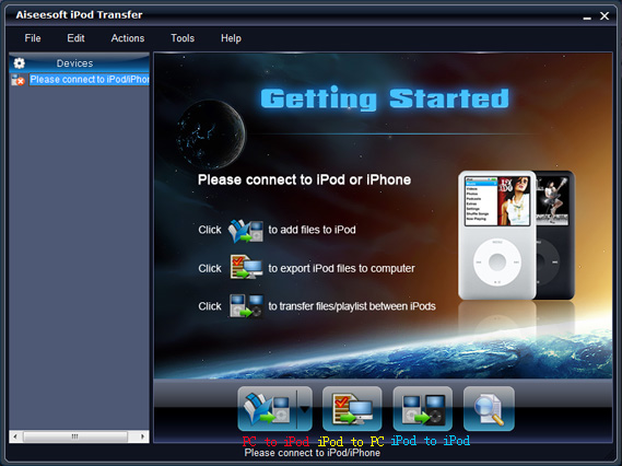 How to import music from iPod to iPod without iTunes Main