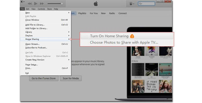 iTunes home sharing not working