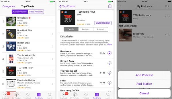 Crea un podcast su iPhone