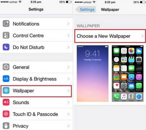 Αλλαγή ταπετσαρίας οθόνης κλειδώματος στο iPhone