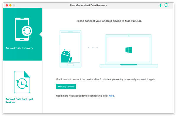 Free Mac Android Data Recovery full screenshot