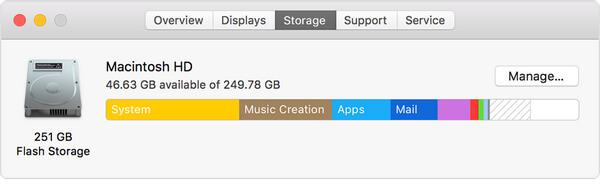 macOS Sierra Mac Storage