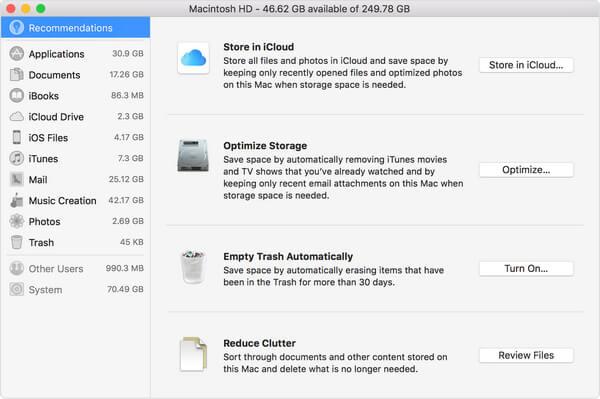 Strumenti di archiviazione Mac