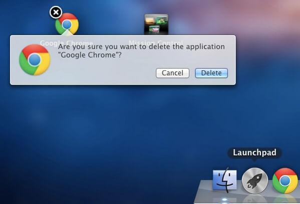 Disinstallare l'app su Mac tramite LaunchPad