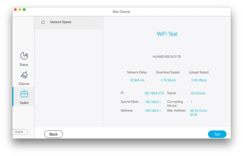 Αποτέλεσμα δοκιμής WiFi
