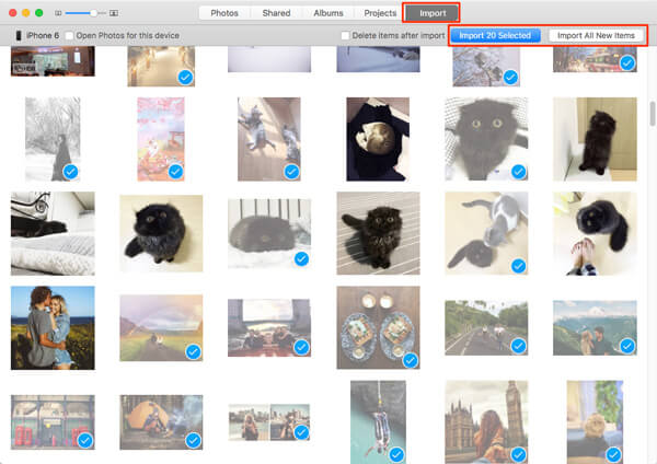 Importuj zdjęcia z iPhone'a na komputer Mac za pomocą aplikacji Zdjęcia
