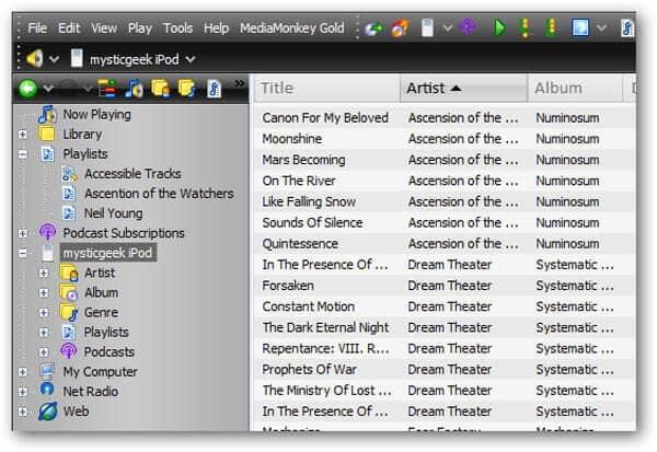 Zet muziek op de iPod met MediaMonkey