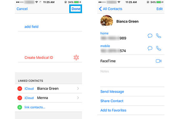 Merge iPhone Contacts on iPhone