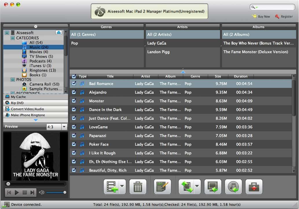 Aiseesoft Mac iPad 2 Manager Platinum