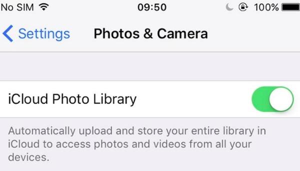 Attiva la libreria di foto di iCloud