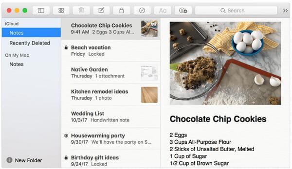 Importa note da iPhone a Mac