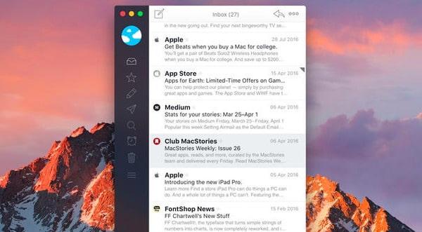 Trasferisci foto su Mac tramite e-mail