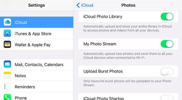 Trasferisci foto su Mac con iCloud Photo Stream