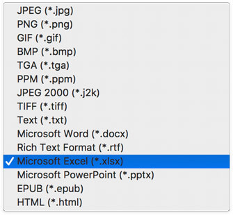 Choose Output Format