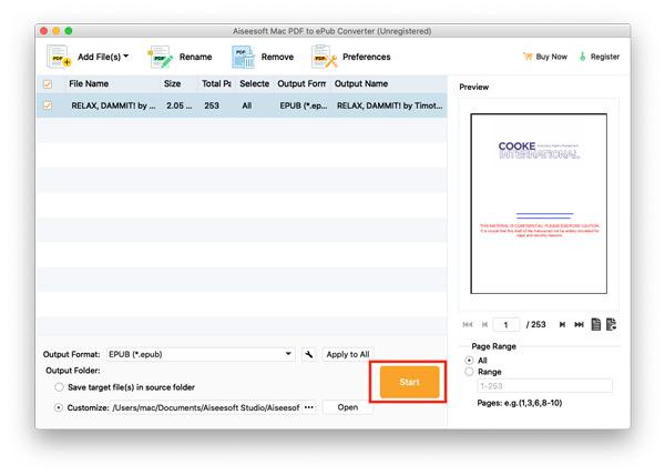 Konwertuj PDF na Epub