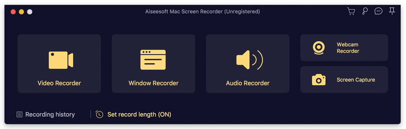Screenshot of Aiseesoft Mac Screen Recorder