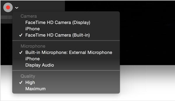 Registra video di te stesso su Mac