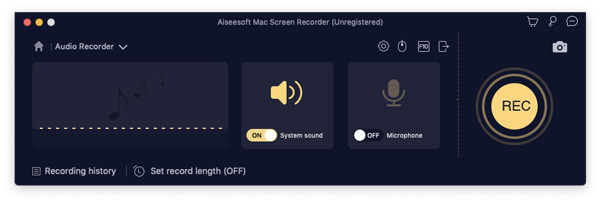 Registra audio su Mac