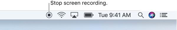 Interrompi registrazione audio schermata QuickTime su Mac