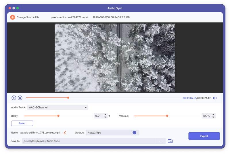 Aggiungi video alla sincronizzazione audio