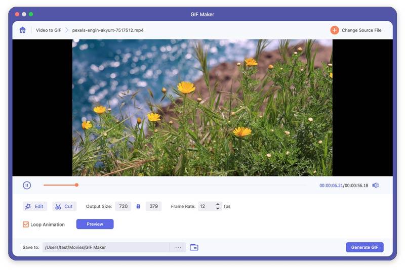 Aggiungi video a GIF