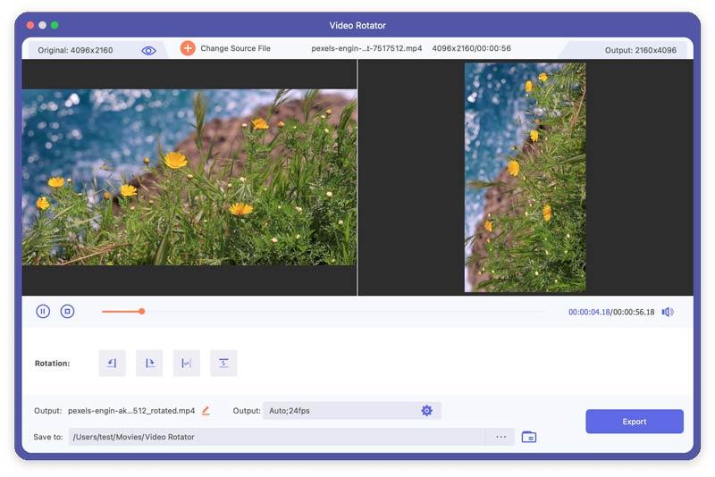 Aggiungi video a Rotator