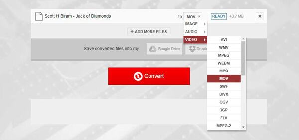 Convert MXF File to MOV Online