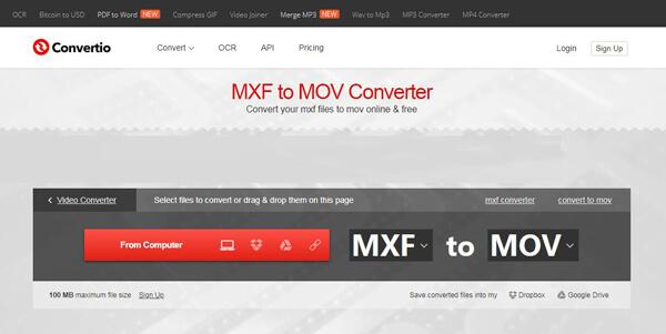 Convertitore di file MXF online