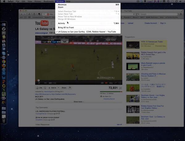 Download di video di YouTube su Safari