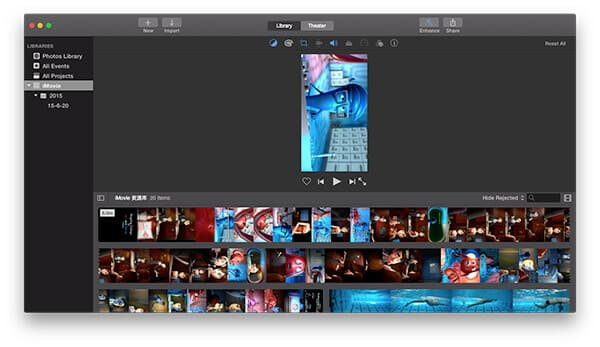 How to rotate a video in imovie rotate the video clip in imovie ccuart Image collections