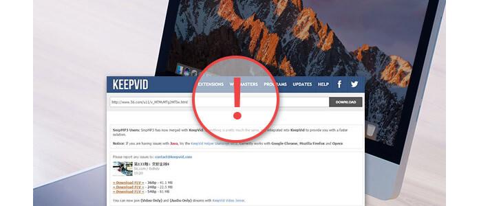 Λύστε το KeepVid που δεν λειτουργεί σε Mac