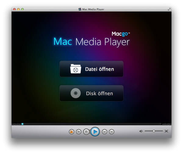 Interface of Mac Media Player