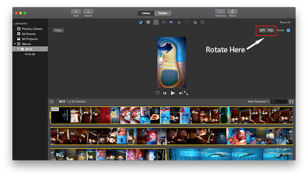 how to add a video in a video imovie