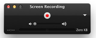 Interfejs kontrolera nagrywania ekranu