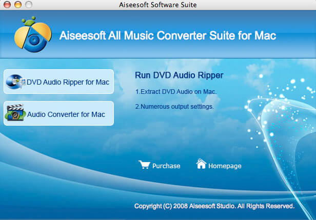 Aiseesoft Mac All Music Converter Suite Screen shot