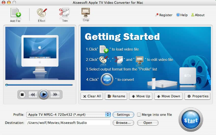 Aiseesoft Apple TV Converter for Mac full screenshot