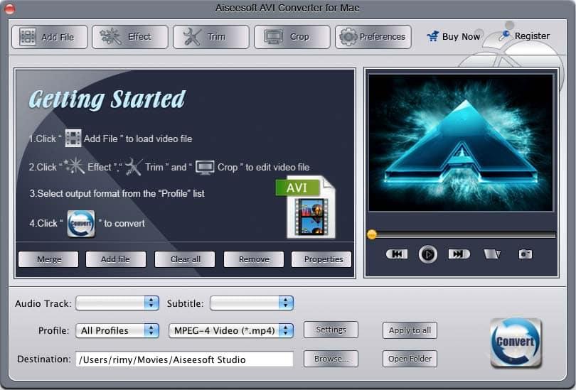 Aiseesoft AVI Converter for Mac 3.2.18 full