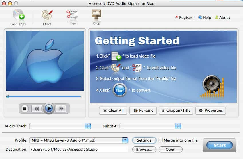 Aiseesoft DVD Audio Ripper for Mac Screen shot