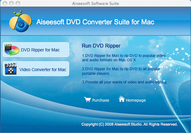 Aiseesoft DVD Converter Suite for Mac