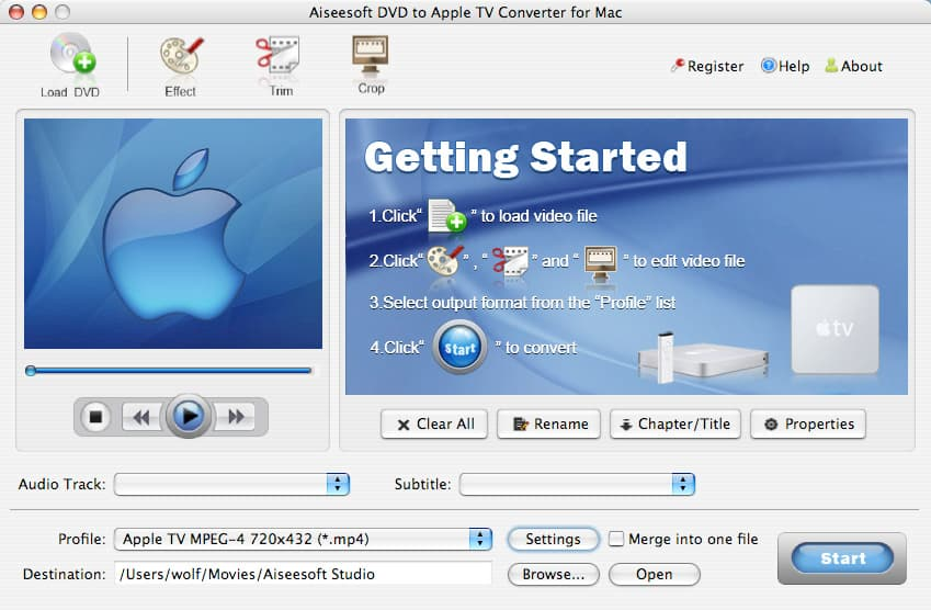 a professional and easy to use DVD software