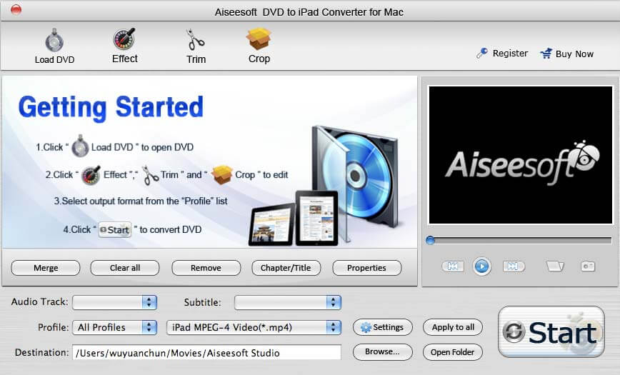 The best DVD to iPad Converter Mac software.