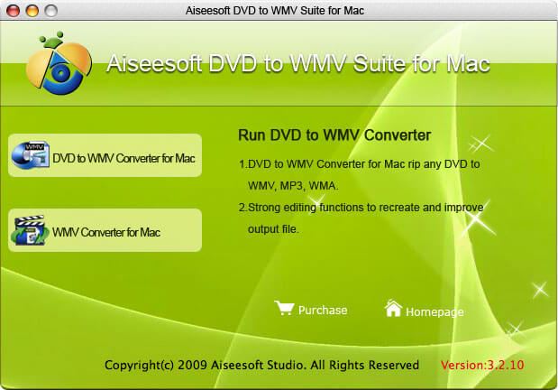 Aiseesoft DVD to WMV Suite for Mac screenshot