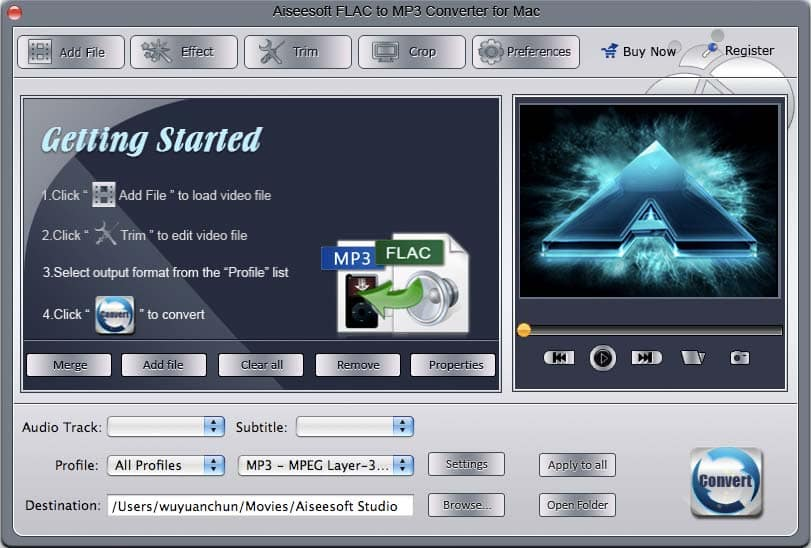 Powerful FLAC to MP3 Audio Converter for mac.